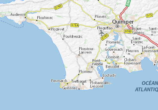 Mapa Plano Plonéour-Lanvern