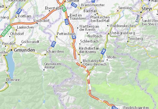 Mapa Plano Kirchdorf an der Krems