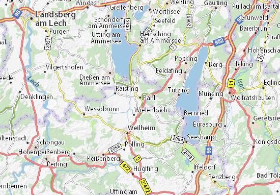 Karte Stadtplan Pähl