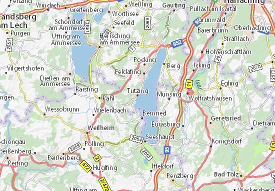 Mapas-Planos Tutzing