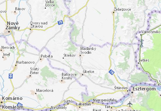 Mapas-Planos Maďarský Svodín