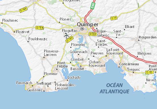 Mapa Plano Gouesnach