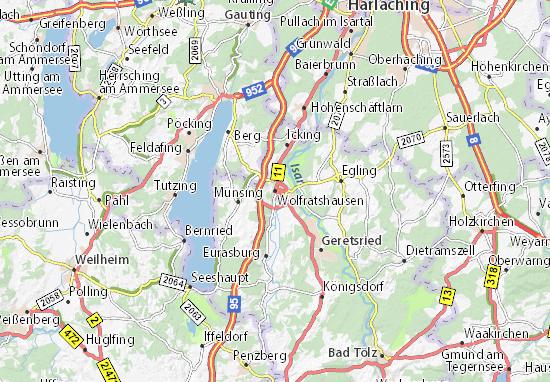 Karte Stadtplan Wolfratshausen