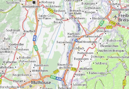 Mapas-Planos Fessenheim