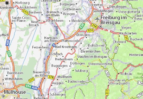 Karte Stadtplan Bad Krozingen