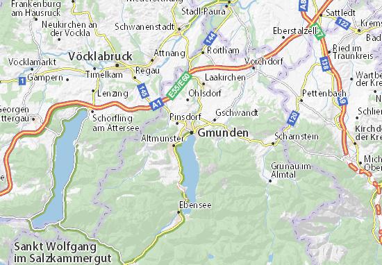 Gmunden Map