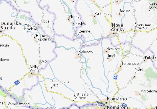 Mapas-Planos Kolárovo