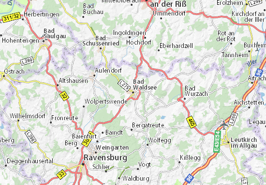 Bad Waldsee Map
