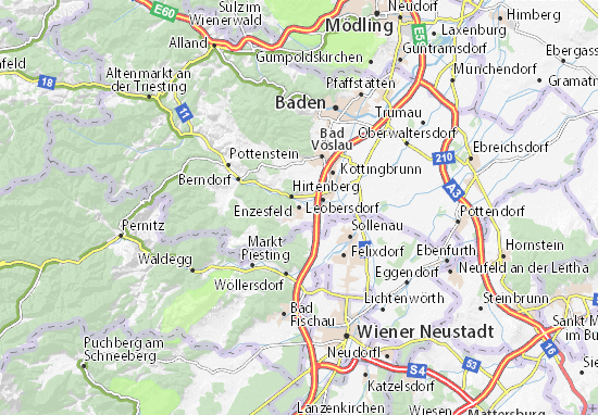 Karte Stadtplan Enzesfeld