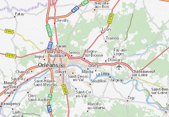 Mapa Plano Boigny-sur-Bionne