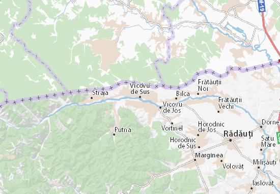 Vicovu de Sus Map