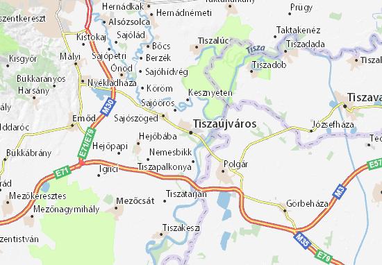 Tiszaújváros Map