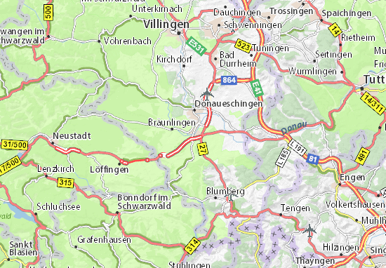 Hüfingen Map
