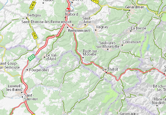 Mapa Plano Rupt-sur-Moselle