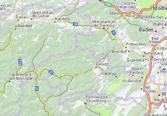 Karte Stadtplan Thal