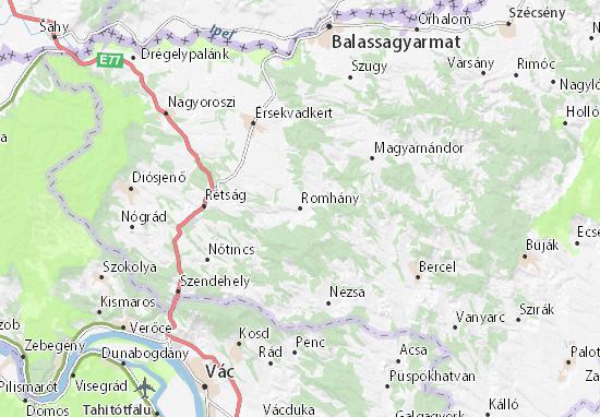 Romhány Map