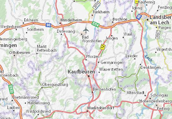 Karte Stadtplan Pforzen
