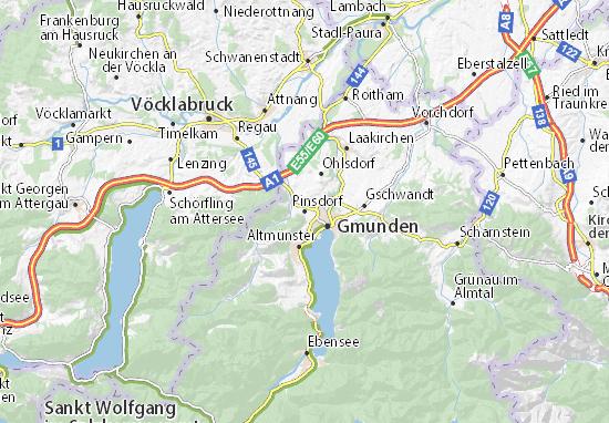 Kaart Plattegrond Pinsdorf
