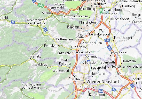 Karte Stadtplan Hirtenberg