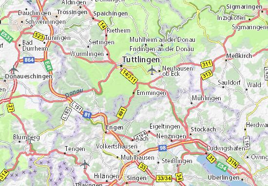 Emmingen Map
