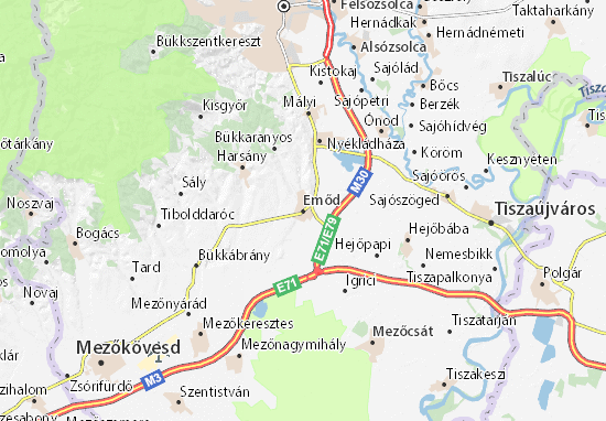 Emőd Map