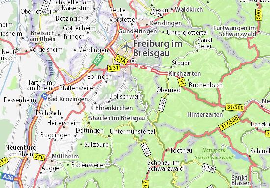 breisgau karte Karte, Stadtplan Horben   ViaMichelin