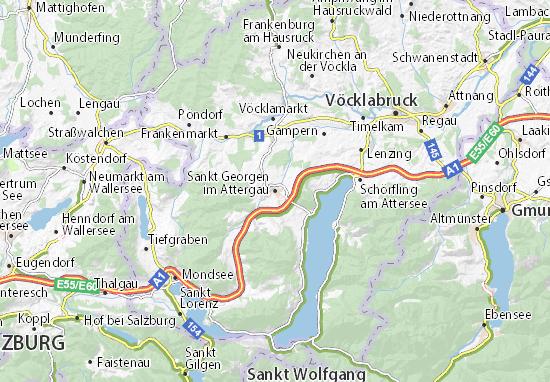 Mapa Plano Sankt Georgen im Attergau