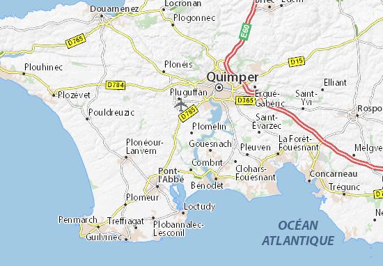 Plomelin Map