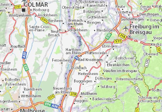Carte-Plan Hartheim am Rhein