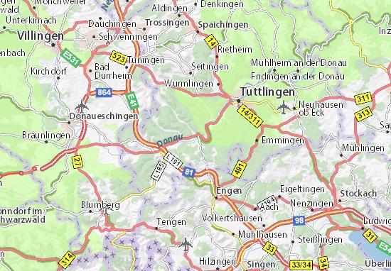 Karte Stadtplan Immendingen