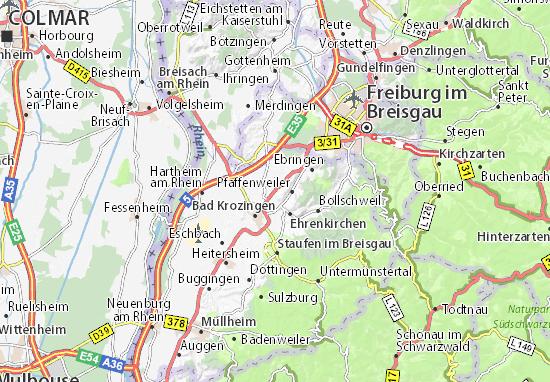 Breisach Germany Map.Detailed Map Of Norsingen Norsingen Map Viamichelin