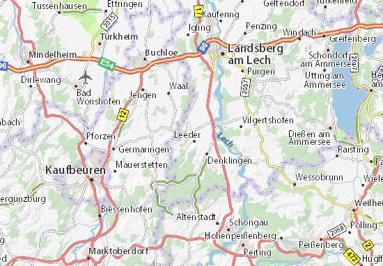Karte Stadtplan Fuchstal