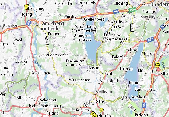 Dießen am Ammersee Map