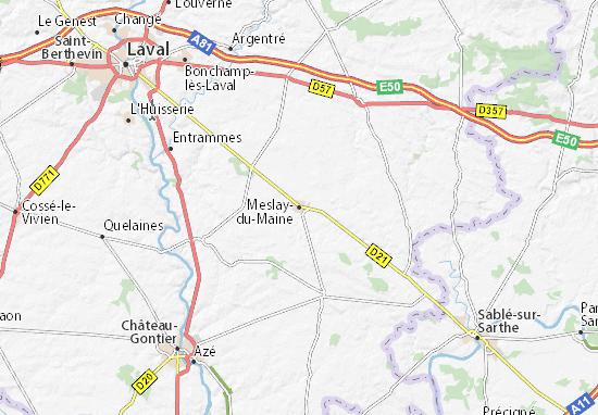 Carte-Plan Meslay-du-Maine