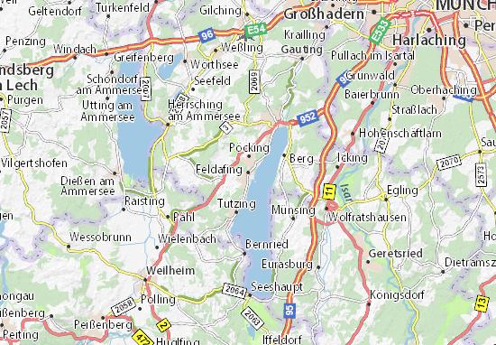 Feldafing Map