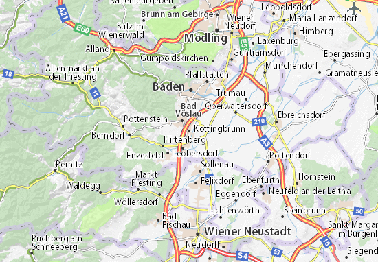 Mapas-Planos Kottingbrunn