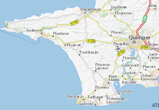 Mapa Plano Pouldreuzic