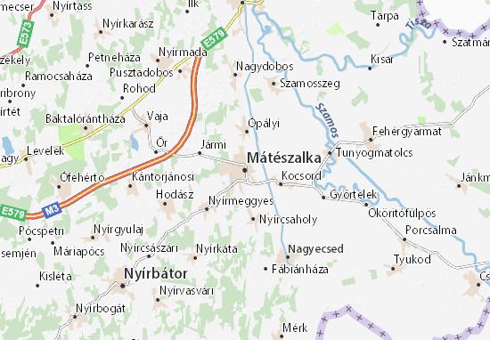 Mátészalka Map