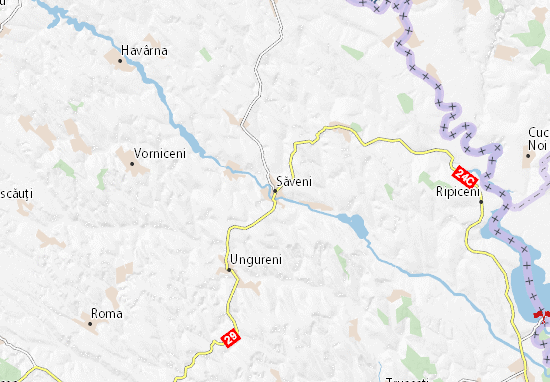 Săveni Map