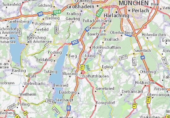Karte Stadtplan Icking