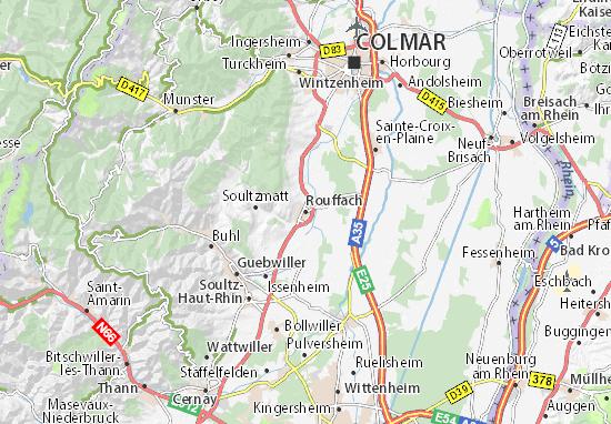 Karte Stadtplan Rouffach
