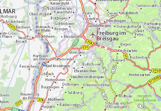 Karte Stadtplan Ebringen