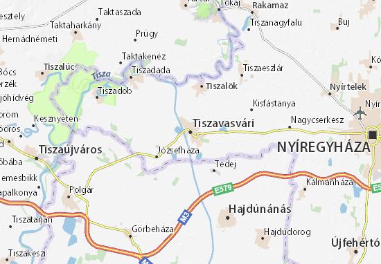 Mapas-Planos Tiszavasvári