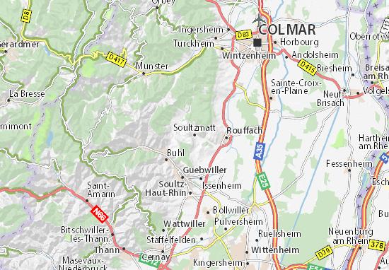 Mapa Plano Soultzmatt