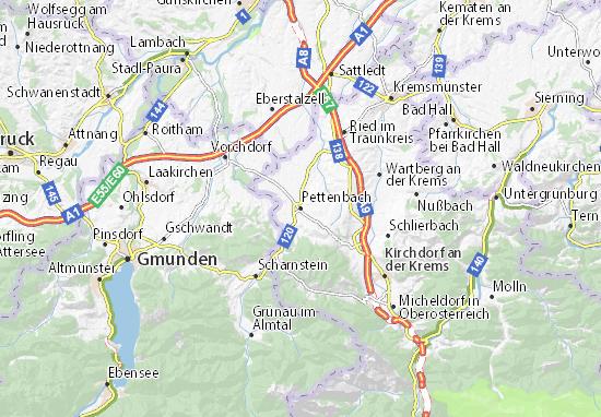 Kaart Plattegrond Pettenbach