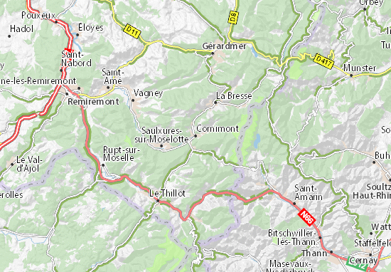 Karte Stadtplan Cornimont