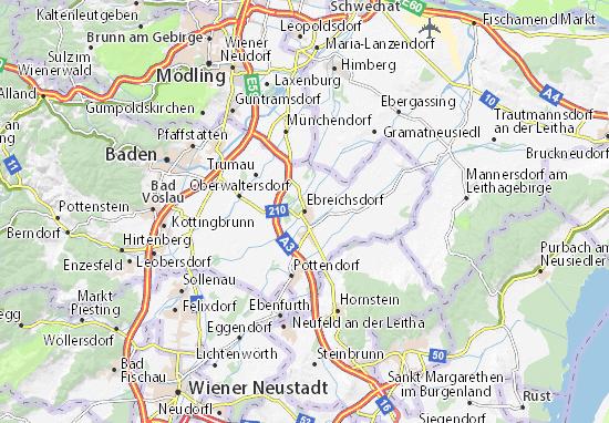 Carte-Plan Ebreichsdorf