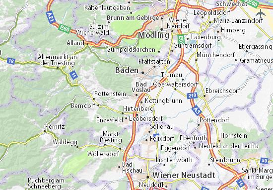 Kaart Plattegrond Bad Vöslau
