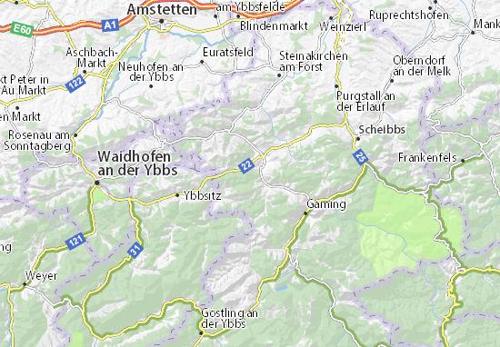 Kaart Plattegrond Gresten-Land
