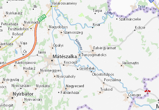 Mapa Plano Tunyogmatolcs